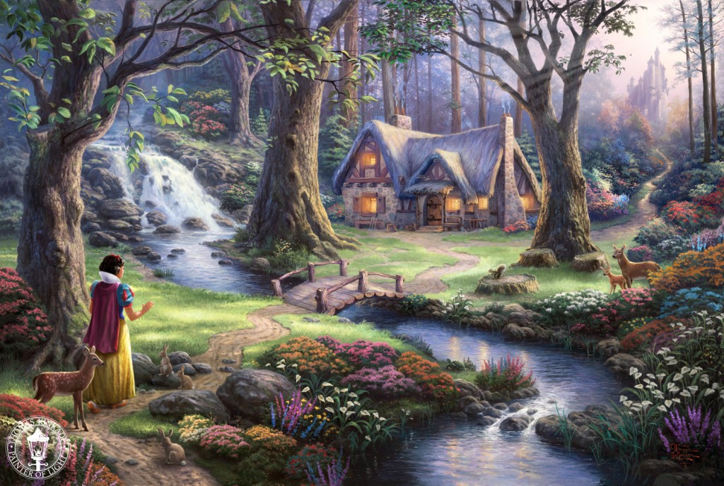 Amazing Thomas Kinkade Disney Paintings